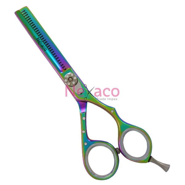 Pro line   Pro-007   Hair Thinning Scissor   Color: Titanium   Finish: Multi