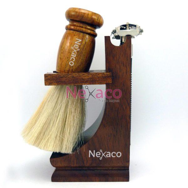 Shaving Set | SvS-004 | Wooden stand